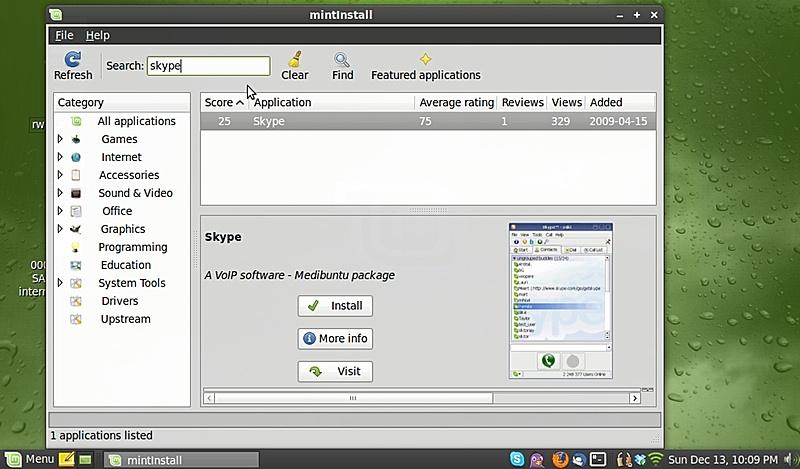 mintInstall-skype